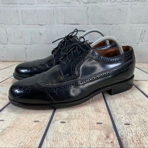 Bostonian Classic Shoes Black Wing Tip Oxford 9